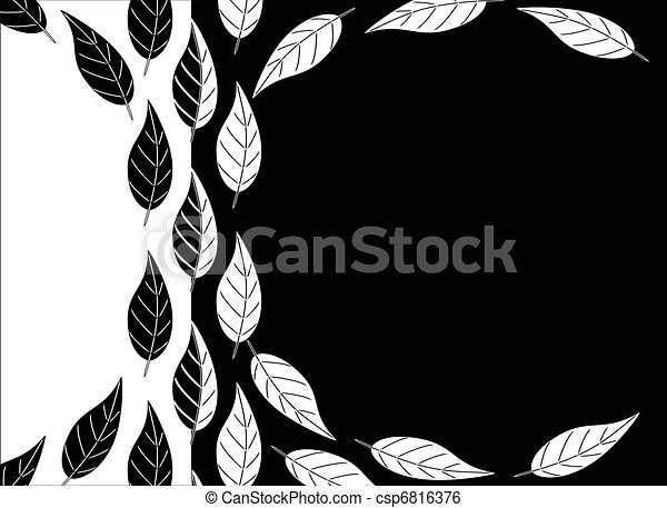 Black And White Leaves Background Simpleblack And White Leaf Design