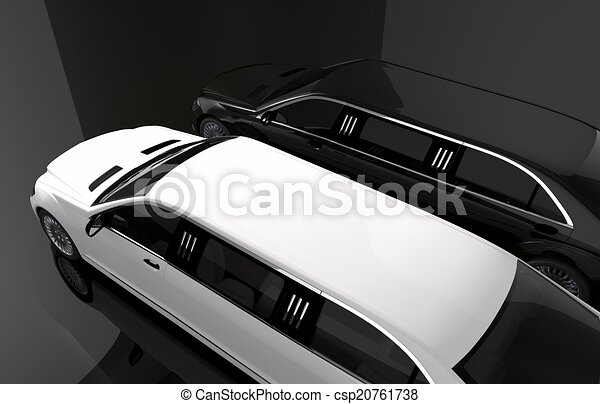 Black and White Limousine - csp20761738