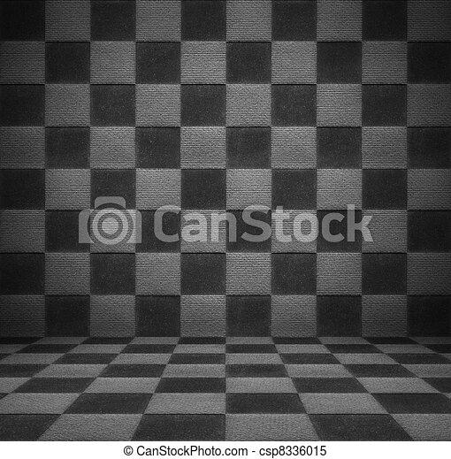 Black and white luxury room - csp8336015