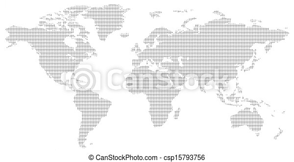 Black and white men pattern world map little men pattern black and white men pattern world map csp15793756 gumiabroncs Images