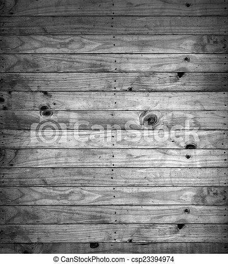 Black and white of wooden textures background. - csp23394974