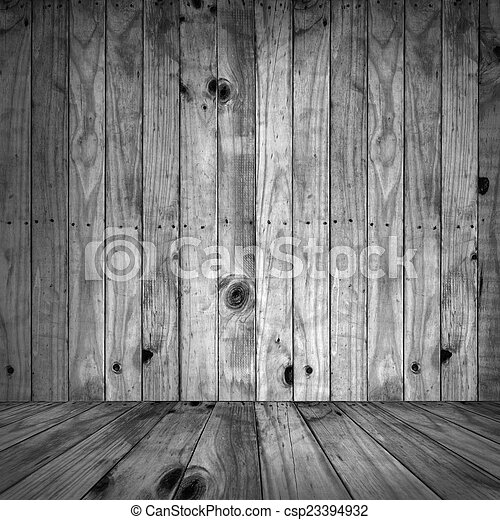 Black and white of wooden textures background. - csp23394932