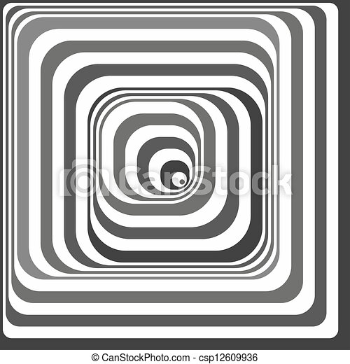 Black and white optical illusion - csp12609936