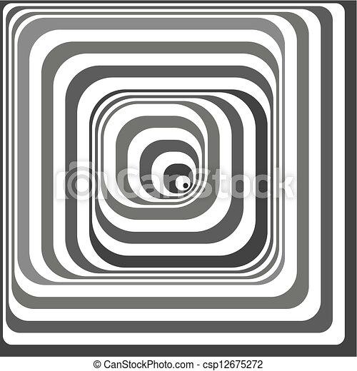 Black and white optical illusion - csp12675272
