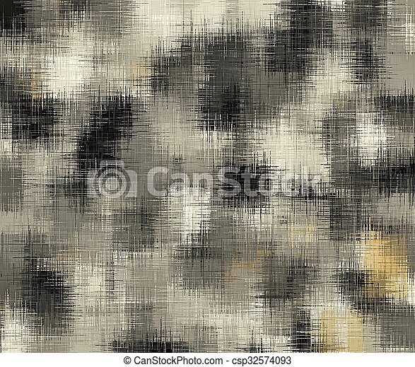 black and white painting abstract - csp32574093