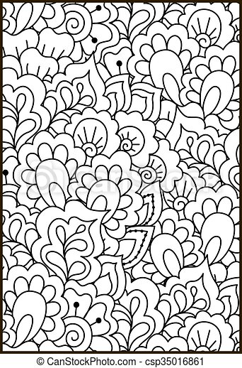 Black And White Pattern Ethnic Henna Background Black And White
