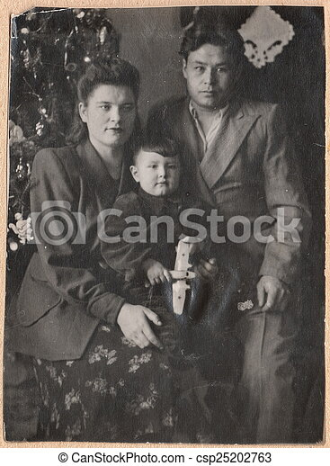 Black And White Photographs Old Russian Family Old Black And White