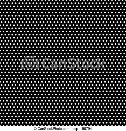 Black And White Polka Dots Pattern Tiny White Polka Dots On Black