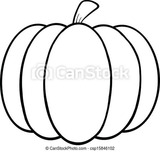 Black and white pumpkin cartoon illustration black and white pumpkin csp15846102 thecheapjerseys Gallery