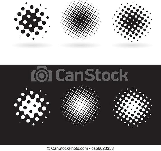 Black and white round spots - csp6623353