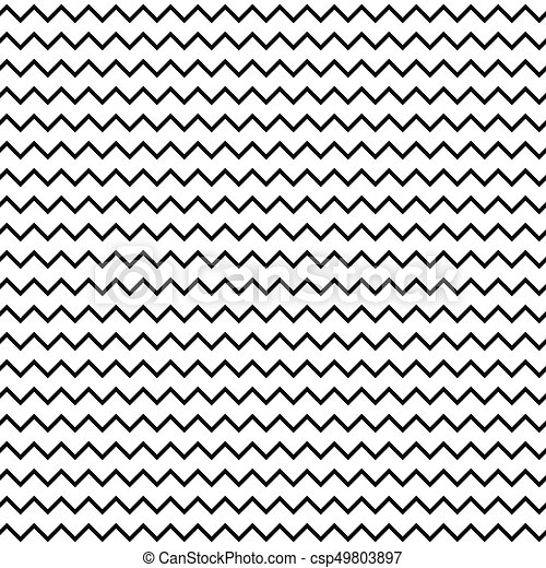 Black and white seamless zigzag line pattern csp49803897