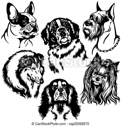 Set Of Dogs Clipart Vector Graphics 15002 Set Of Dogs Eps Clip Art
