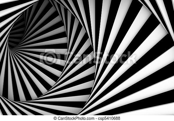 Black and white spiral - csp5410688