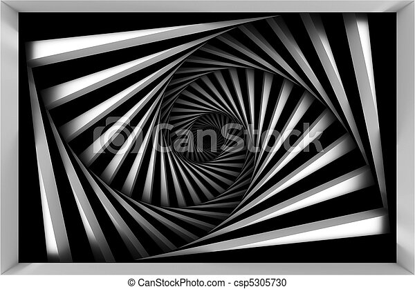 Black and white spiral - csp5305730