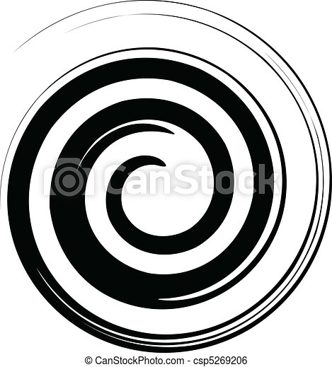 Black and white spiral vector - csp5269206
