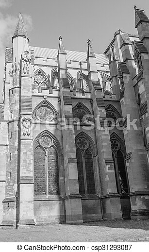 Black and white St Margaret Church in London - csp31293087