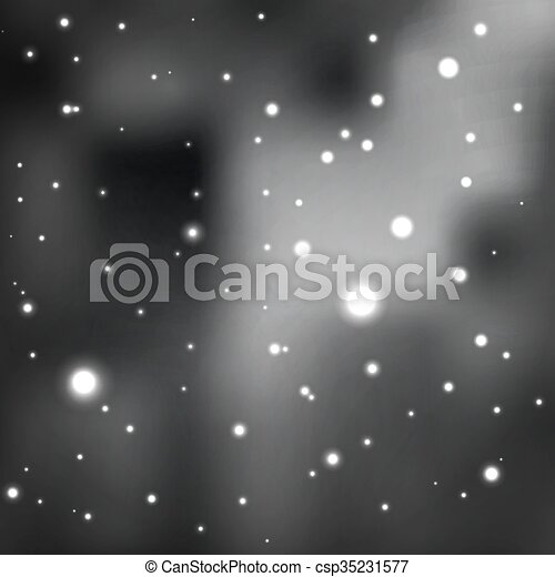 Black And White Star Background Shades Of Gray Cluster Stars In The Cosmic Nebula Vector