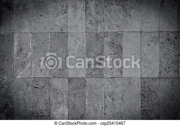 Black and white stone wall - csp25415467
