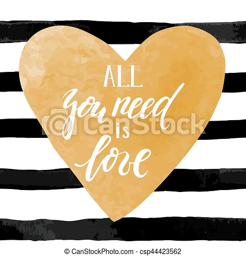 Very One love one heart black and white hand lettering script to  ZK24