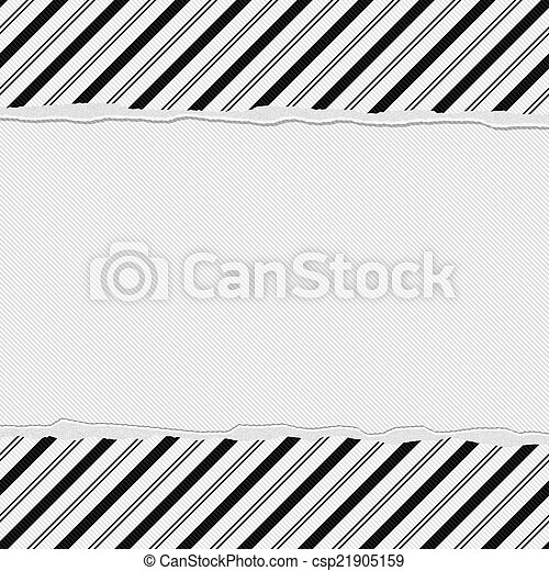 Black And White Striped Frame With Torn Background With Center For