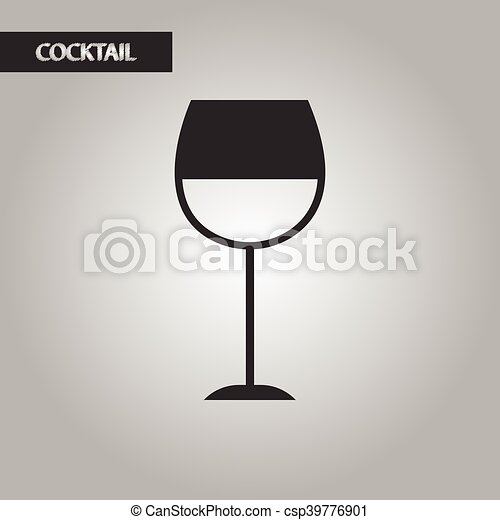 Black and white style glass wine csp39776901