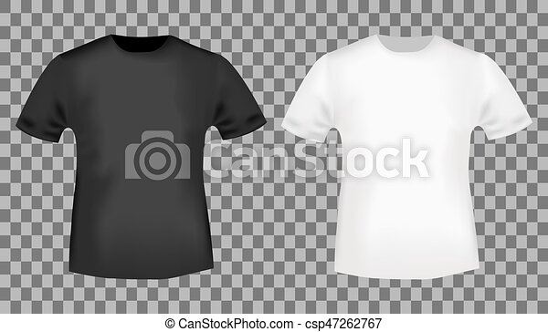 Black And White T Shirt Template Blank Front View T Shirt Mockup