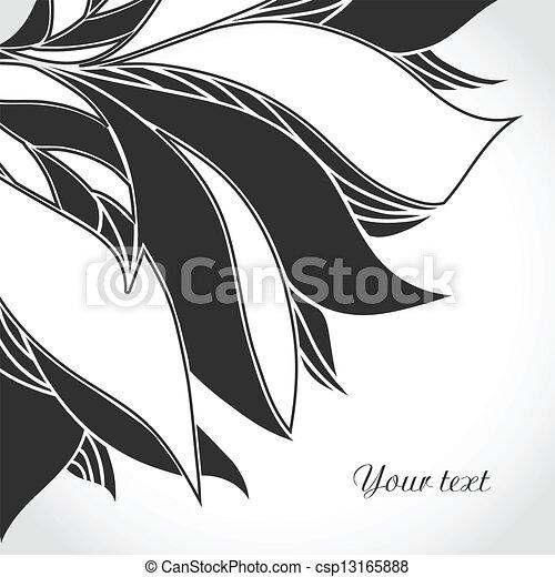 Black and white tattoo pattern. - csp13165888