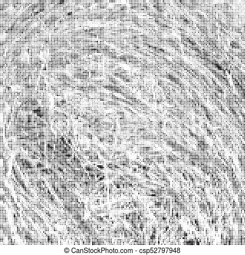 Black And White Texture Halftone Abstract Background Of Ink Stains