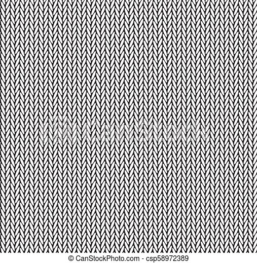 Black And White Texture Knitted Sweater Seamless Pattern Vector Illustration