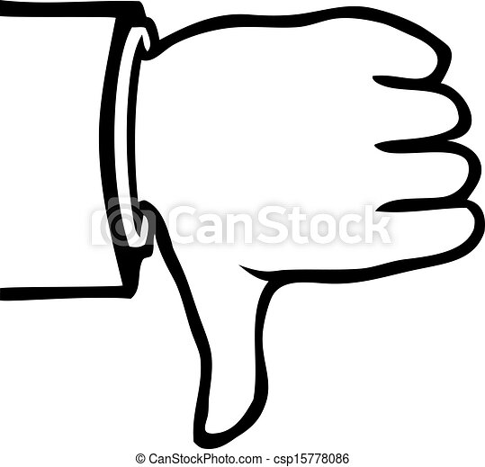 black and white thumbs down black and white hand showing a rh canstockphoto com free thumbs up and down clip art free thumbs up and down clip art