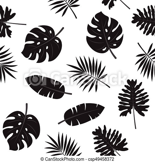 Black And White Tropical Leaves Seamless Pattern Black And White Tropical Palm Leaves Jungle Leaves Seamless Pattern Canstock Find the perfect tropical leaves white background stock illustrations from getty images. https www canstockphoto com black and white tropical leaves seamless 49458372 html
