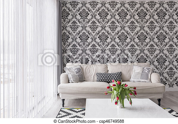 Black and white wall - csp46749588