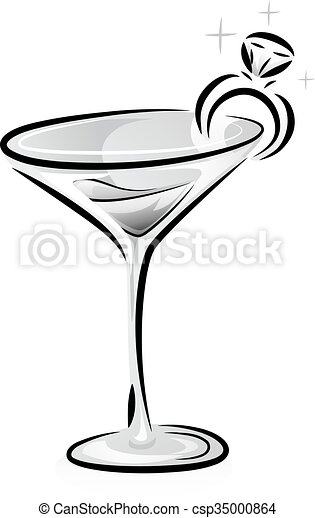 Black and white wine glass ring csp35000864