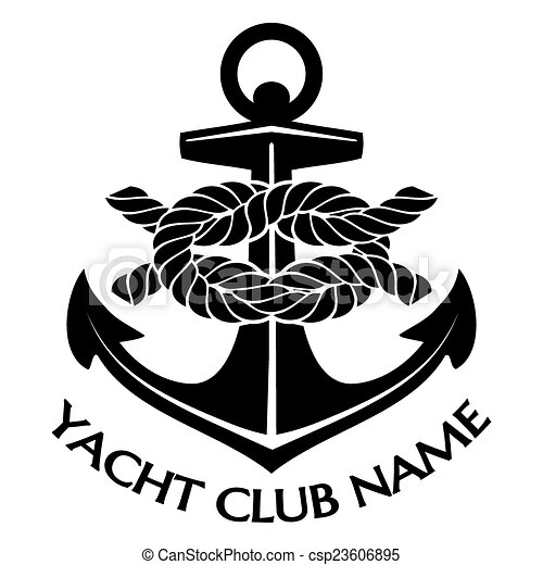 simple black and white yacht club logo graphic design with eps rh canstockphoto co uk yacht club logo design logo yacht club de france