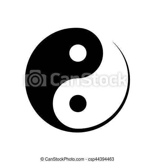 Black And White Yin Yang Symbol Symbolising Harmony Unity Balance
