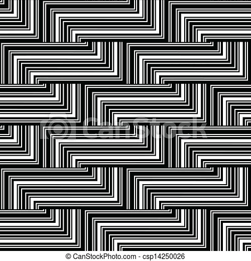 Black and white zigzag pattern lines csp14250026