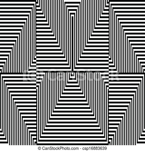 Black and white zigzag pattern optical illusion csp16883639