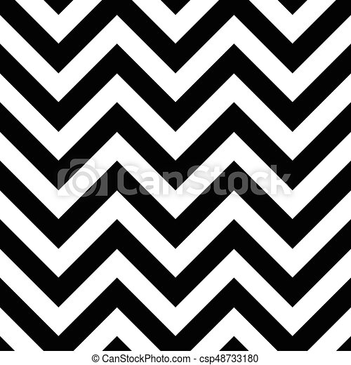 Black and white zigzag seamless pattern csp48733180