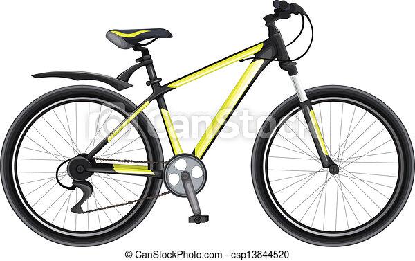 Black And Yellow Bike - csp13844520
