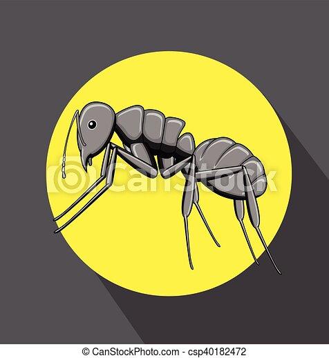 Black Ant Vector - csp40182472