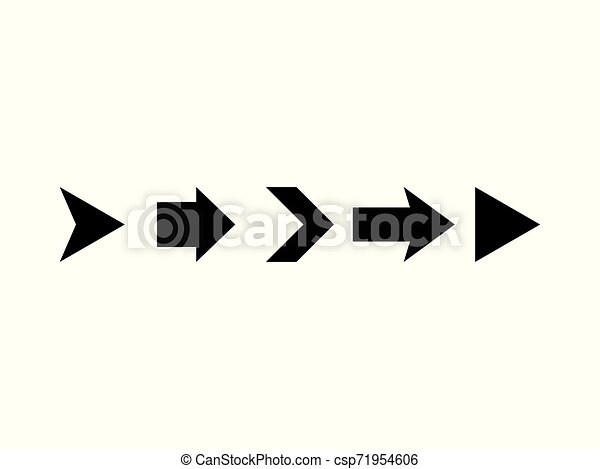 Black arrows isolated on white background. Vector illustration - csp71954606