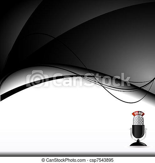 black background - csp7543895