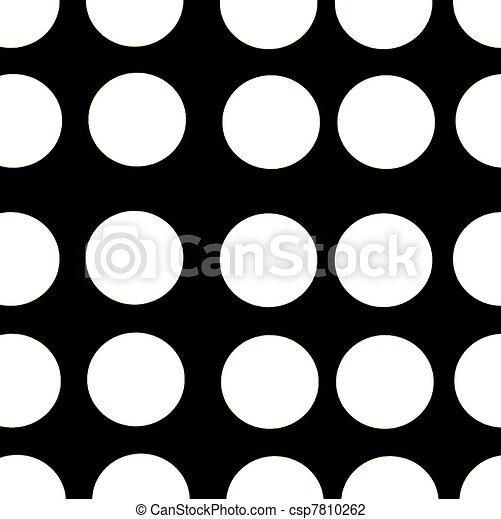Black background white polka dots csp7810262