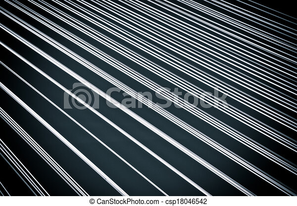 Black background with white lines - csp18046542