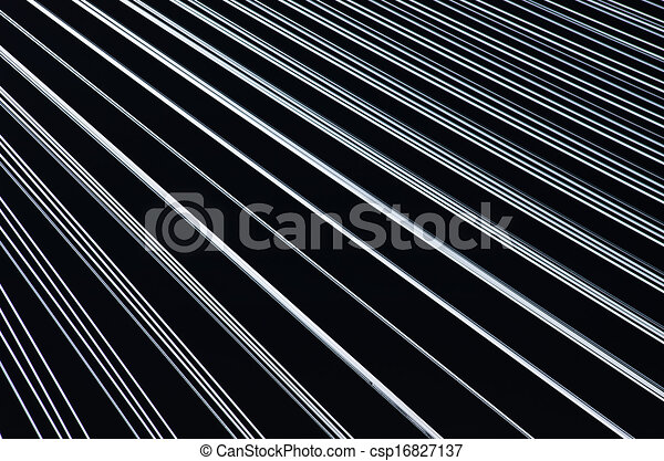 Black background with white lines - csp16827137