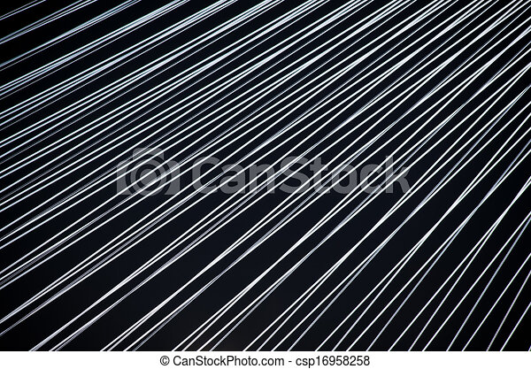 Black background with white lines - csp16958258