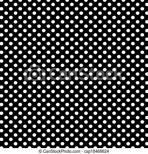 Black background with white polka dots pattern csp18468624