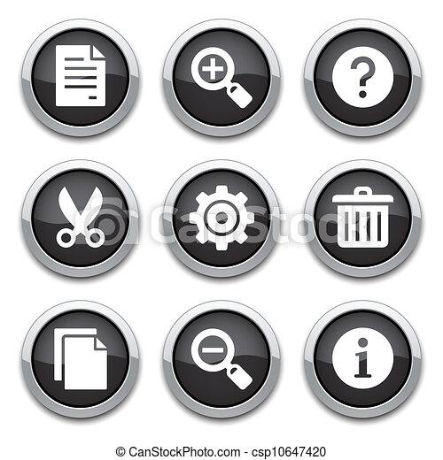black basic application buttons - csp10647420