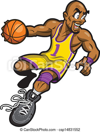 Black Basketball Player - csp14831552