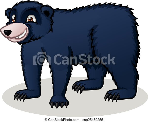 black bear cartoon this image is a black bear in cartoon illustration rh canstockphoto com black bear cartoon pictures black bear cartoon japan